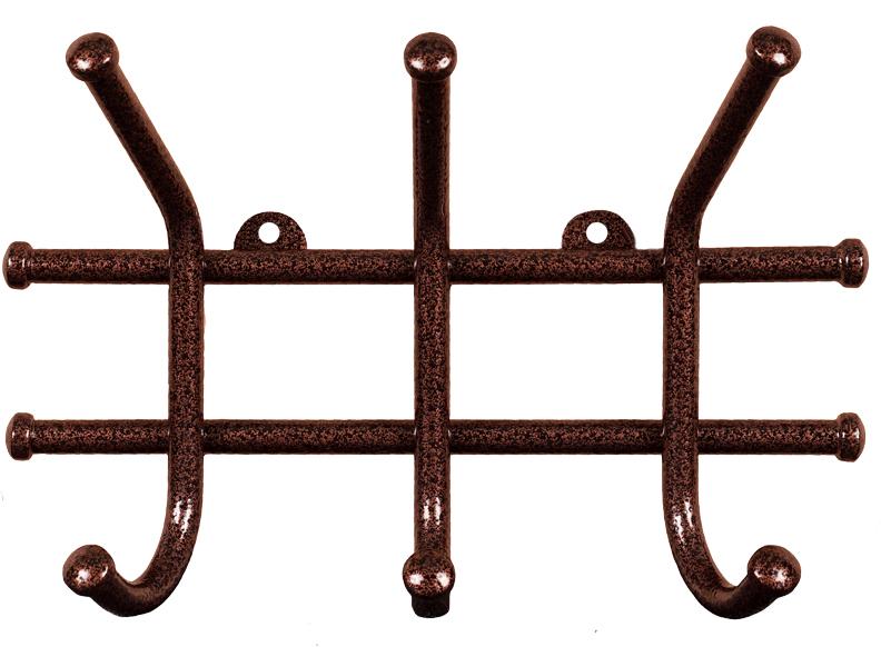 Вешалка настенная ЗМИ Норма, 3 крючка, 23 х 8 х 16,8 см вешалка настенная зми кружева с 3 крючками цвет черный 20 х 4 х 13 см
