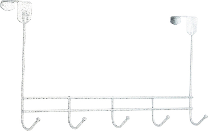 Вешалка надверная ЗМИ Нота, 5 крючков, цвет: белый, 42,6 х 8 х 20,5 см вешалка надверная зми нота 4 металическая цельносварная четыре крючка цвет медный антик