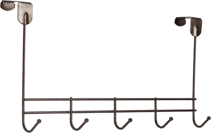 Вешалка надверная ЗМИ Нота, 5 крючков, цвет: медный, 42,6 х 8 х 20,5 см вешалка надверная зми нота 4 металическая цельносварная четыре крючка цвет медный антик