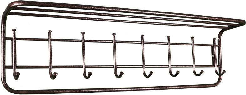Вешалка настенная ЗМИ, с полкой, 8 крючков, медный антик, 100 см вешалка надверная зми нота 4 металическая цельносварная четыре крючка цвет медный антик
