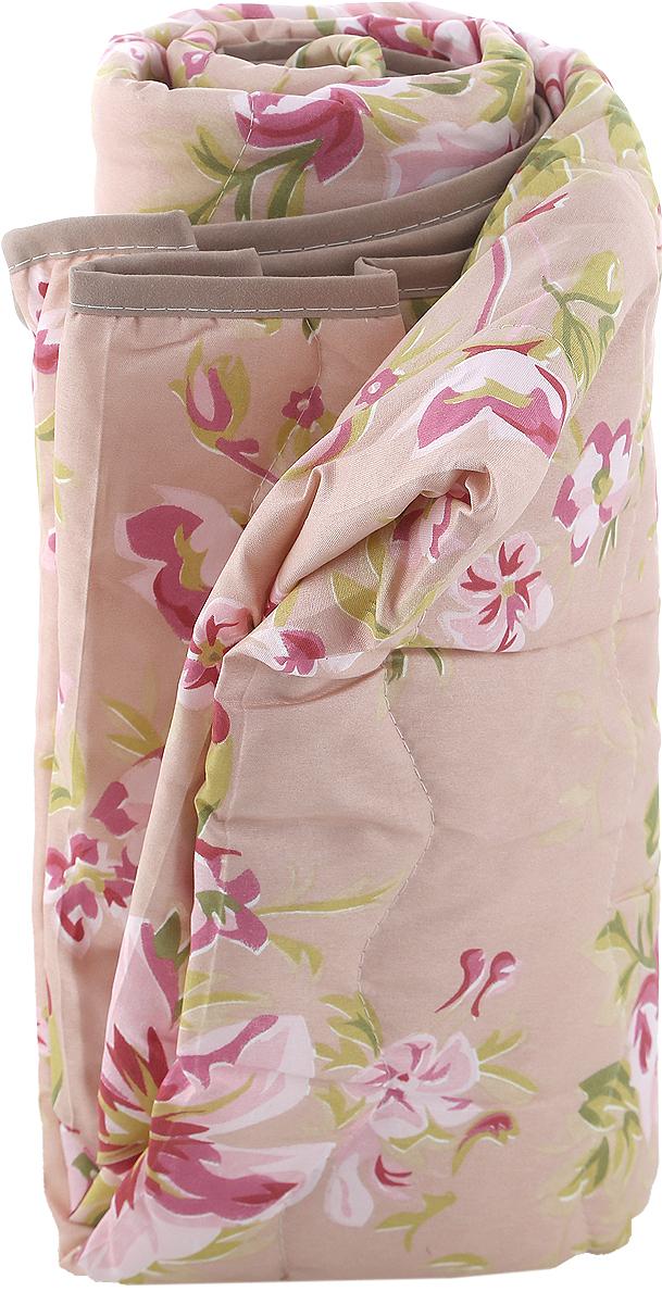 "Покрывало стеганое ""Ноты счастья"", цвет: розовый, 180 х 200 см"