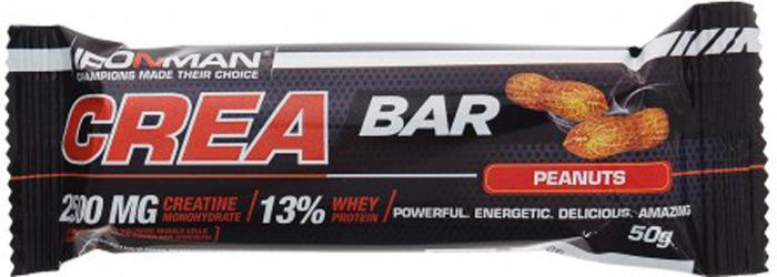 Батончик энергетический Ironman Crea Bar, с креатином, орех, темная глазурь, 50 г