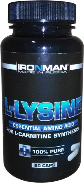 Аминокислота Ironman L-Лизин, 60 капсул