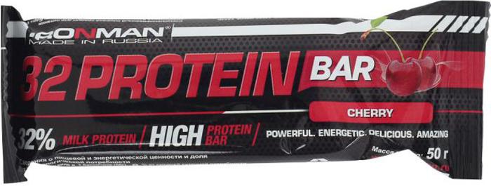 цена на Батончик протеиновый Ironman 32 Protein, фруктовый, темная глазурь, 50 г