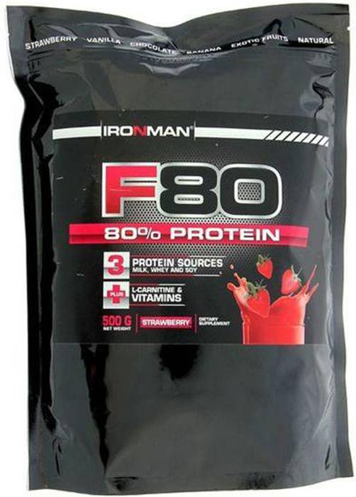 цена на Протеин Ironman F-80, земляника, 500 г
