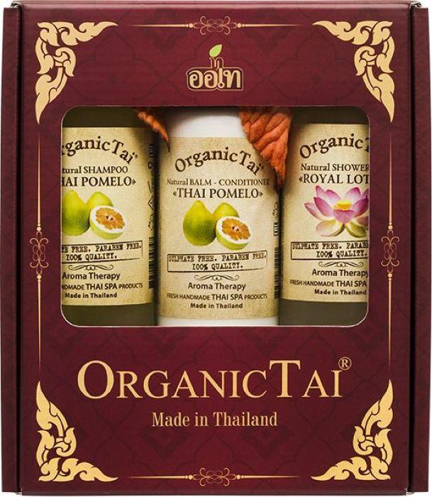 OrganicTai-Kosmeticheskij-nabor-Naturalqnyj-shampunq-dlya-volos-Tajskoe-pomelo-260-ml--Naturalqnyj-balqzam-kondicioner-Tajskoe-pomelo-260-ml--Naturalq