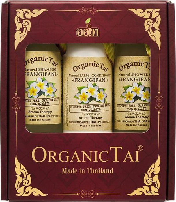 OrganicTai-Kosmeticheskij-nabor-Naturalqnyj-shampunq-dlya-volos-Franzhipani-260-ml--Naturalqnyj-balqzam-kondicioner-Franzhipani-260-ml--Naturalqnyj-ge