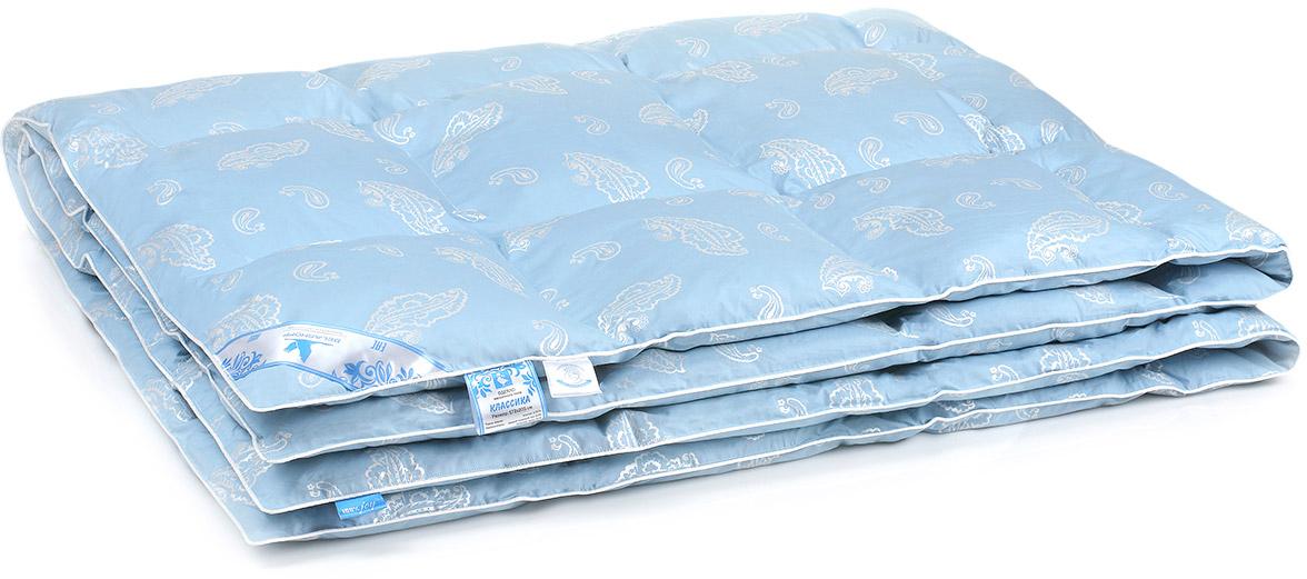 Одеяло Belashoff Классика, кассетное, цвет: голубой, 140 х 205 см одеяло свс одеяло кассетное аляска 140 205 см