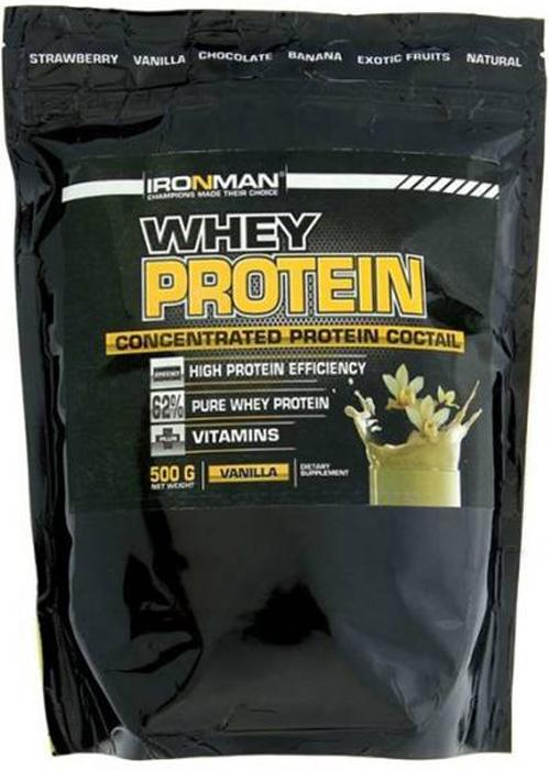 цена на Протеин сывороточный Ironman Ваниль, 500 г