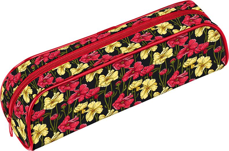 Berlingo Пенал-косметичка Poppies цена и фото