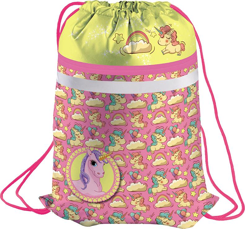 Berlingo Мешок для обуви Unicorn цвет розовый желтый