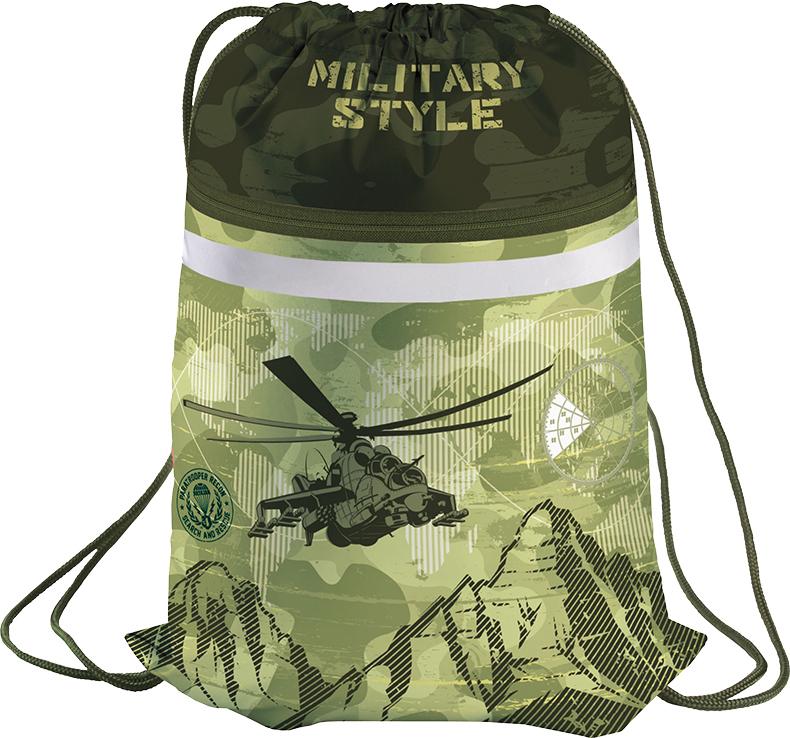Berlingo Мешок для обуви Military мешок для обуви zoobles разм 43х32 см с доп карманом на молнии zb ass4306 4