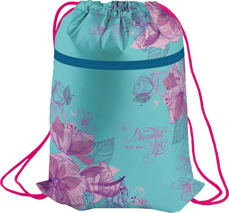 Berlingo Мешок для обуви Flowers мешок для обуви zoobles разм 43х32 см с доп карманом на молнии zb ass4306 4