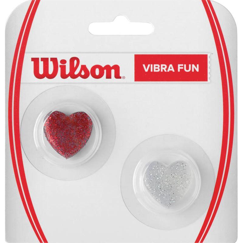 Виброгаситель для ракетки Wilson Vibra Fun Glitter Hearts R, 2 шт струны для ракетки bonny
