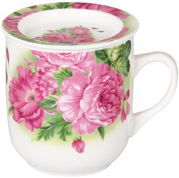 Кружка заварочная Olaff Mug Cover, с ситечком, 350 мл. CM-MSCM-031 кружка заварочная olaff флора ваза с цветами с ситечком 124 01126 350 мл