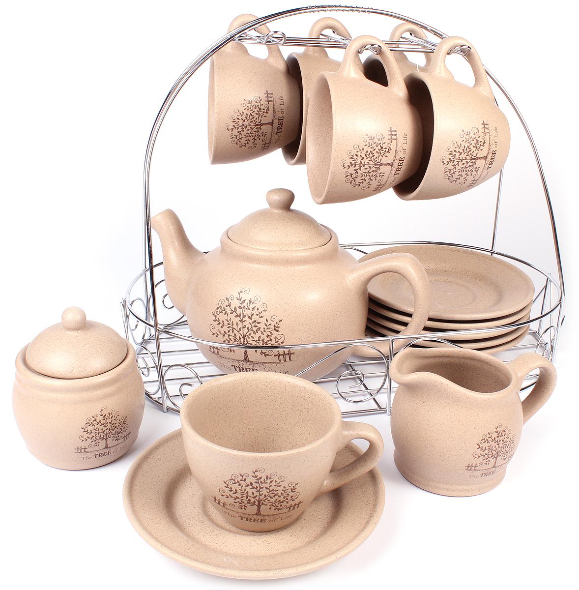 Набор чайный Elrington Терракота, 15 предметов. HD-0015 футболка шесть шесть шесть
