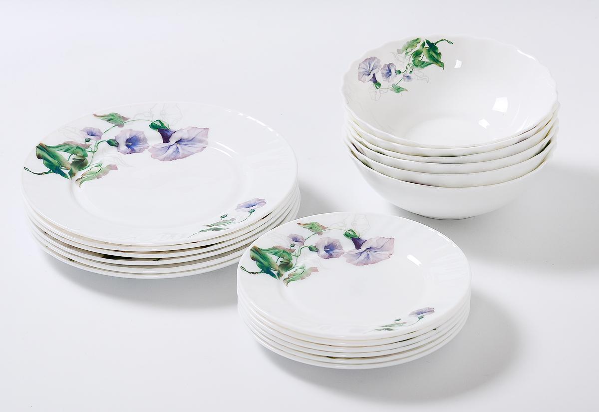 Набор столовой посуды Olaff Скарлет, 18 предметов кофейный набор сакура 130 мл 12 предметов с ложками в подарочной упаковке 730439