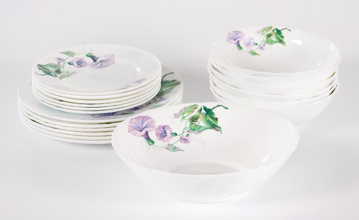 Набор столовой посуды Olaff Скарлет, 19 предметов