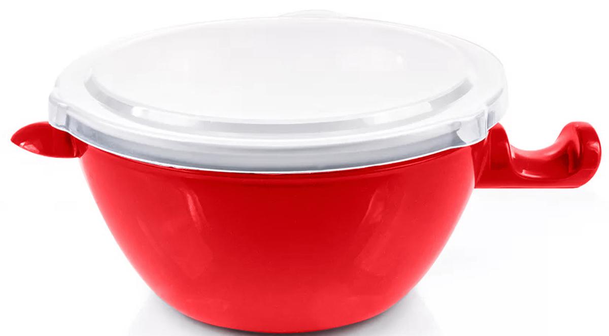 Фото - Чаша для микроволновки Ругес Касание, двойная, цвет: красный, белый [супермаркет] jingdong геб scybe фил приблизительно круглая чашка установлена в вертикальном положении стеклянной чашки 290мла 6 z
