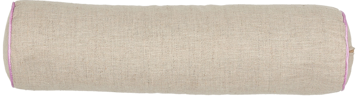 Подушка Bio-Textiles Валик, наполнитель: лузга гречихи + лаванда, 40 х 10 см. FL855