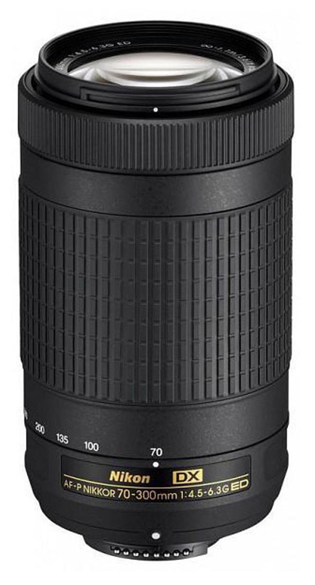 Объектив Nikon AF-P DX Nikkor 70-300mm f/4.5-6.3G ED зеркальный фотоаппарат nikon d5300 kit af s dx nikkor 18 105mm f 3 5 5 6g ed vr черный