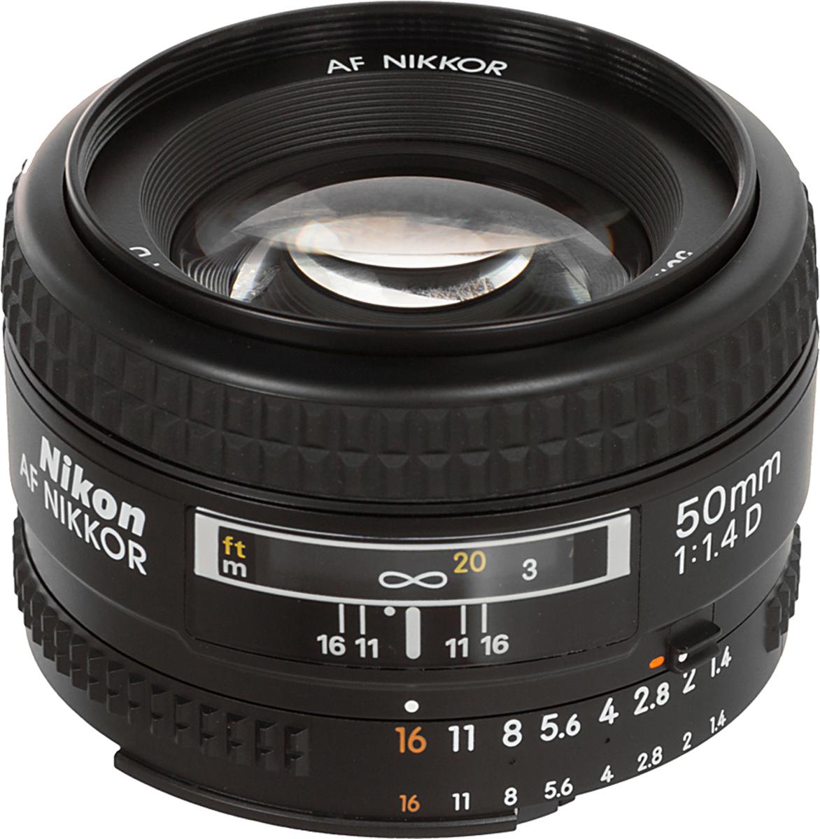 Объектив Nikon AF Nikkor 50mm F/1.4 D зеркальный фотоаппарат nikon d7500 af s dx nikkor 18 105vr черный