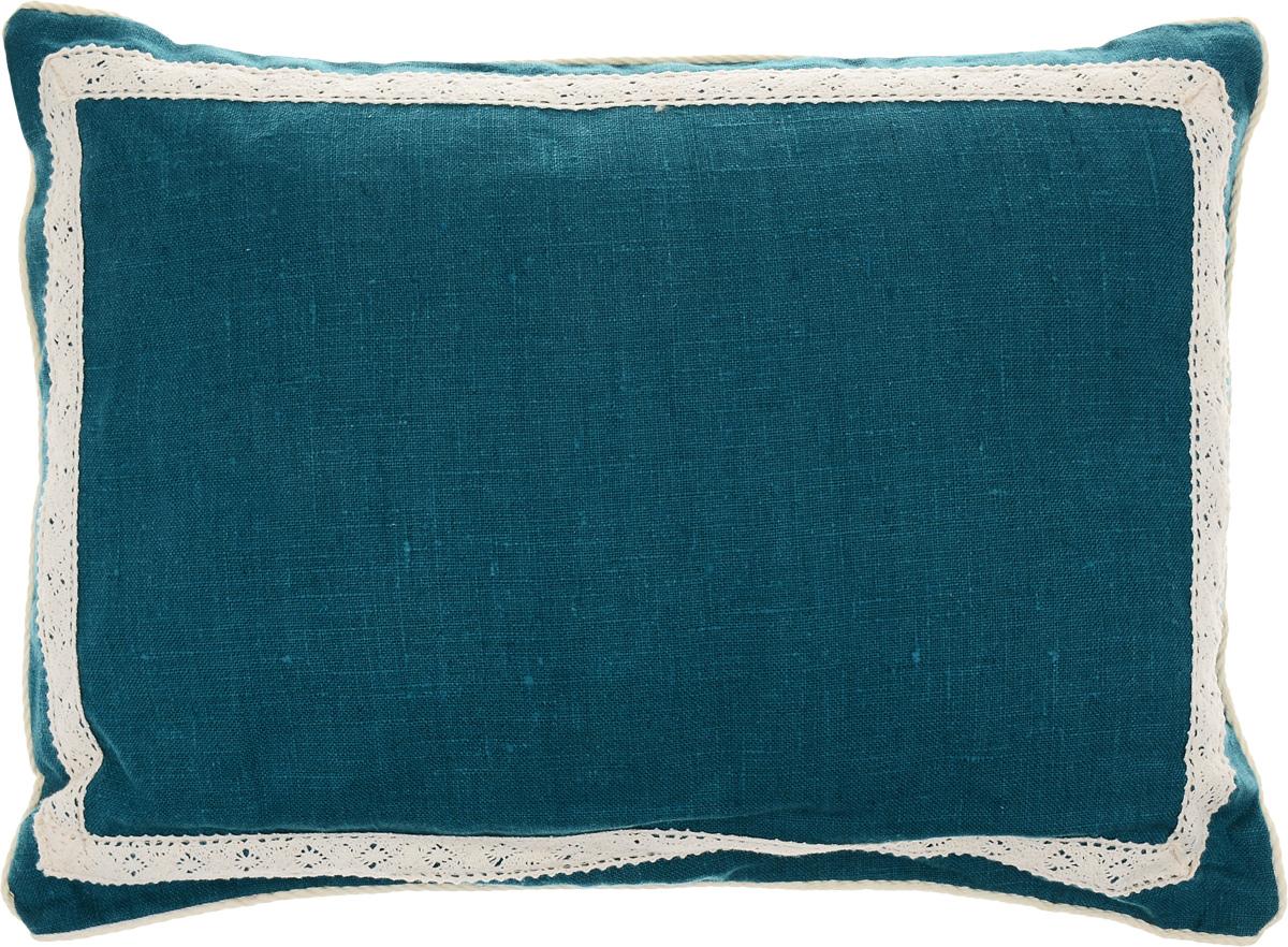 Подушка Bio-Textiles Кедровое очарование, наполнитель: кедр, цвет: бирюзовый, 30 х 40 см
