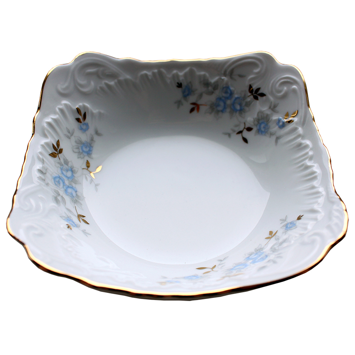 Фото - Салатник Cmielow Rococo. Голубой цветок, диаметр 14 см салатник 23 см мейсенский цветок