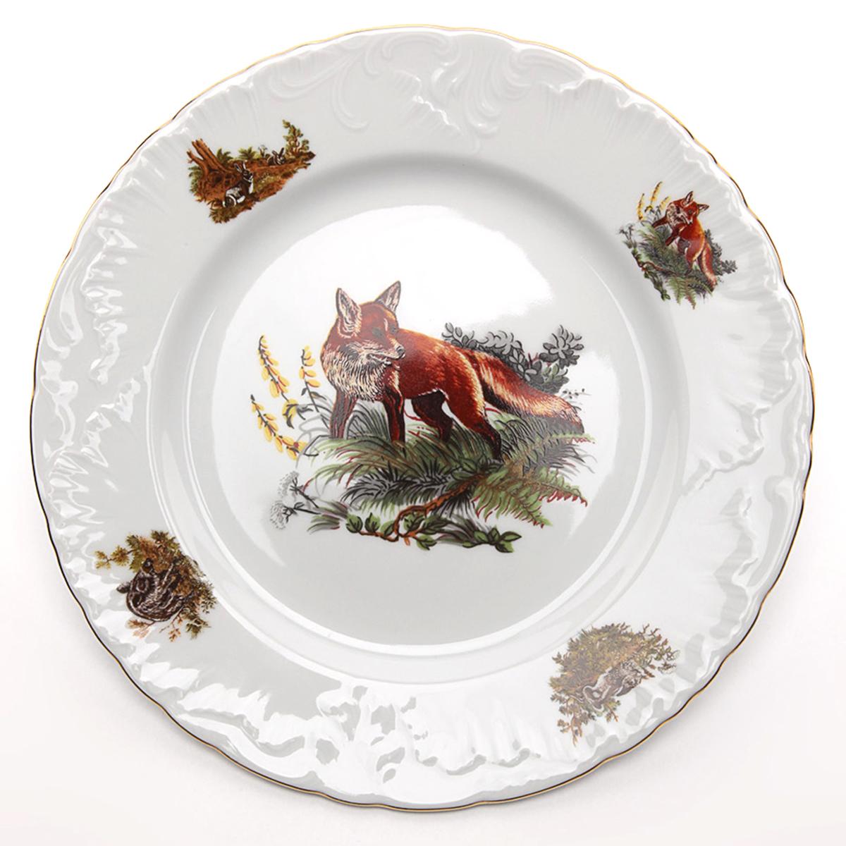 """Тарелка глубокая Cmielow """"Rococo. Охота"""", диаметр 22,5 см"""