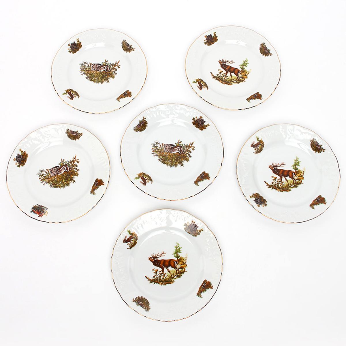 """Тарелка десертная Cmielow """"Rococo. Охота"""", диаметр 19 см"""
