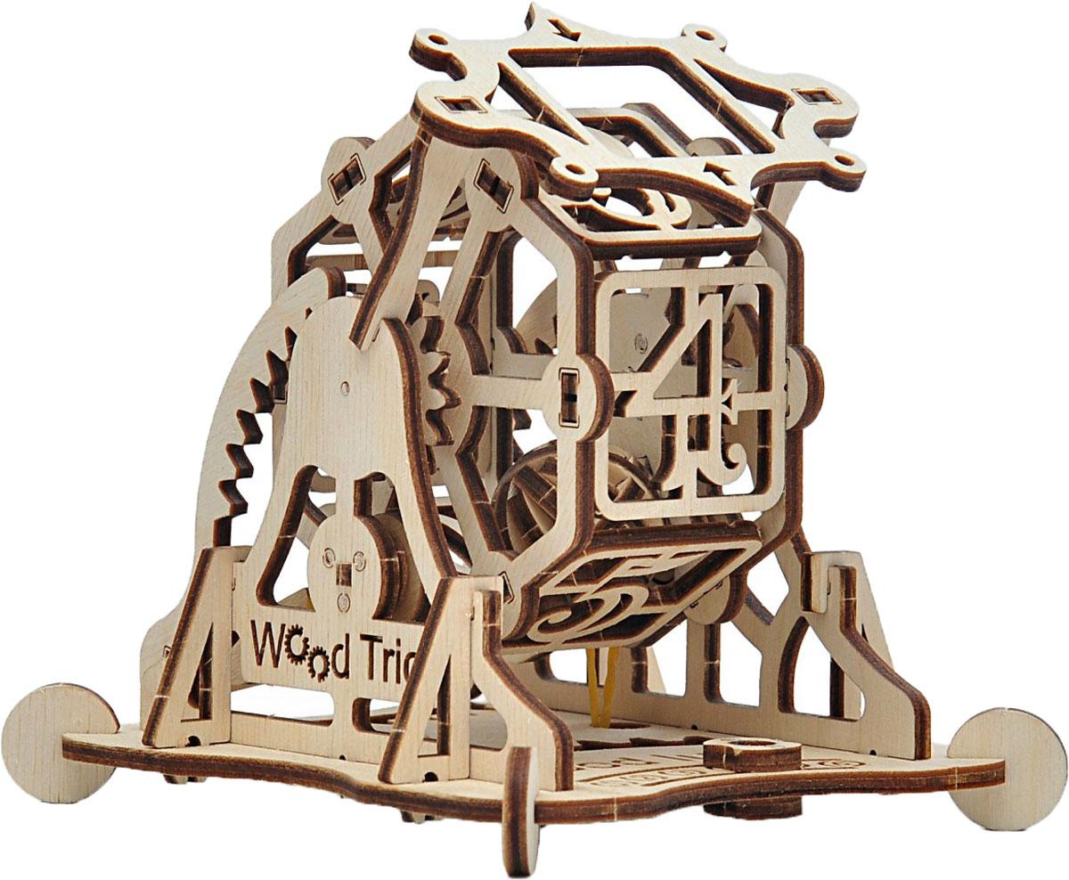 Механический конструктор из дерева Wood Trick Колесо Фортуны с настольной игрой