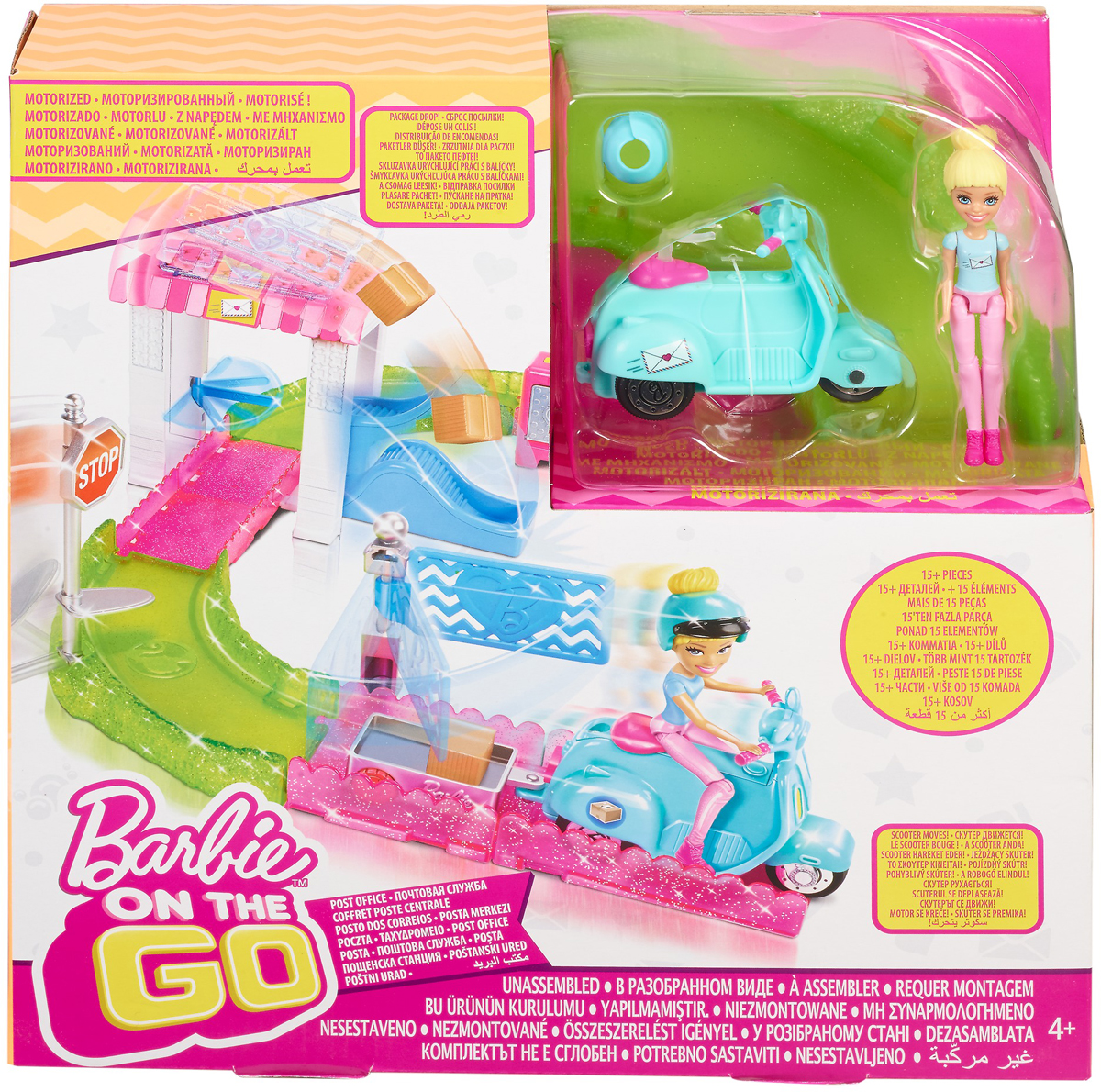 Barbie Игровой набор с куклой В движении Почта
