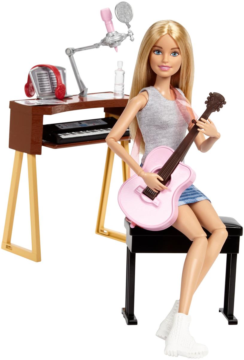 Barbie Игровой набор с куклой Музыкант детский музыкальный инструмент сима ленд синтезатор с микрофоном музыкант green 1689051