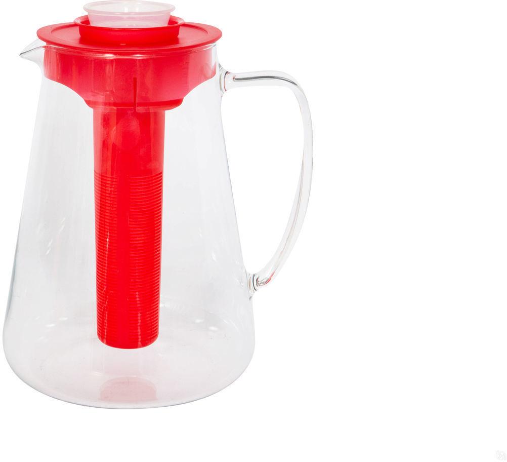 """Кувшин Tescoma """"Teo"""", с ситечком, цвет: красный, 2,5 л. 646628.20"""