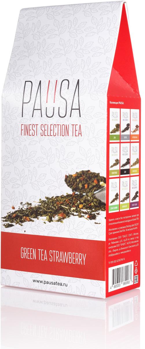 Pausa Клубника со сливками зеленый чай, 90 г teacher клубника со сливками зеленый чай премиум 500 г