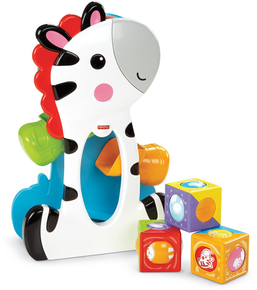 Fisher-Price Infant Toys Развивающая игрушка Зебра с волшебными кубиками