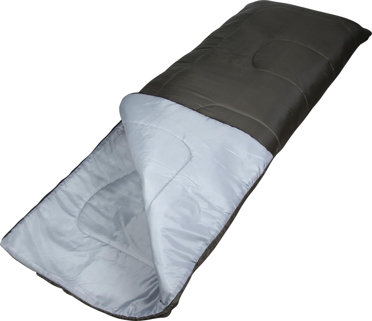 Мешок спальный Сплав СО2, правосторонняя молния, цвет: зеленый, 200 x 75 см