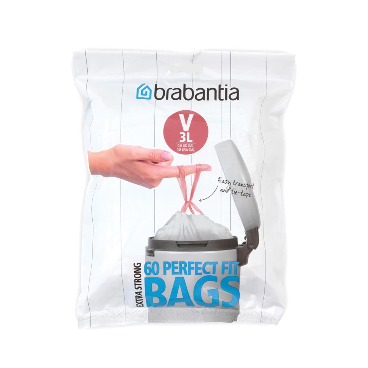 Мешки для мусора Brabantia V 3 л 60 шт