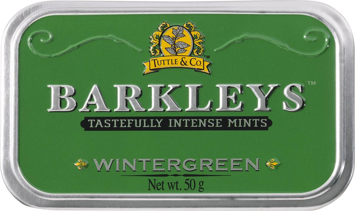Barkleys Wintergreen леденцы зимняя свежесть, 50 г цены