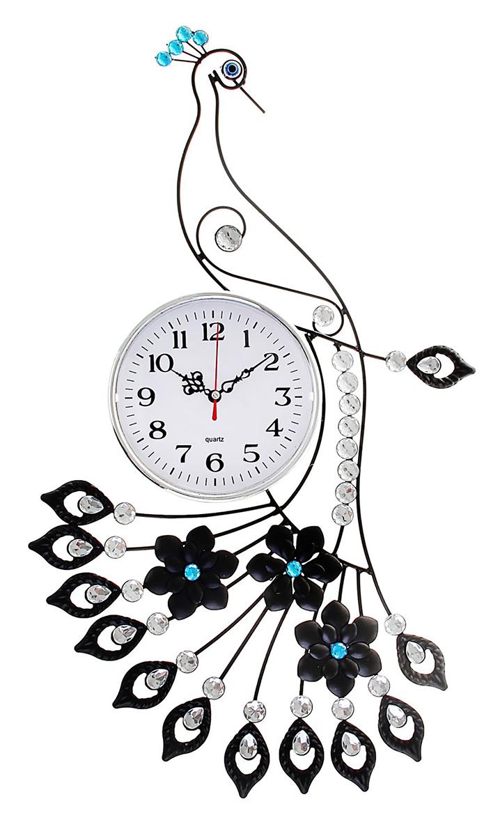 Часы настенные Quartz Ажур. Павлин, 64 х 35 см smt 936 часы павлин