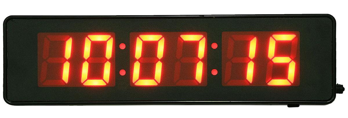 Часы настенные электронные, красные цифры, 9 х 32 см