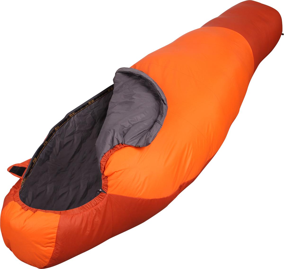 Мешок спальный Сплав Antris 120, левосторонняя молния, цвет: оранжевый, 175 x 75 x 45 см