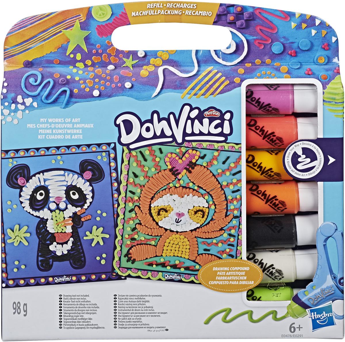 Play-Doh Набор для творчества ДаВинчи Трафареты + Картриджи набор для рисования play doh необычное яйцо cpdo062