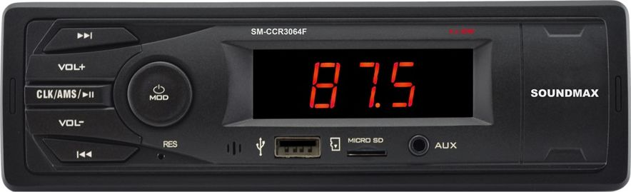 Soundmax SM-CCR3064F автомагнитола форматирование micro sd