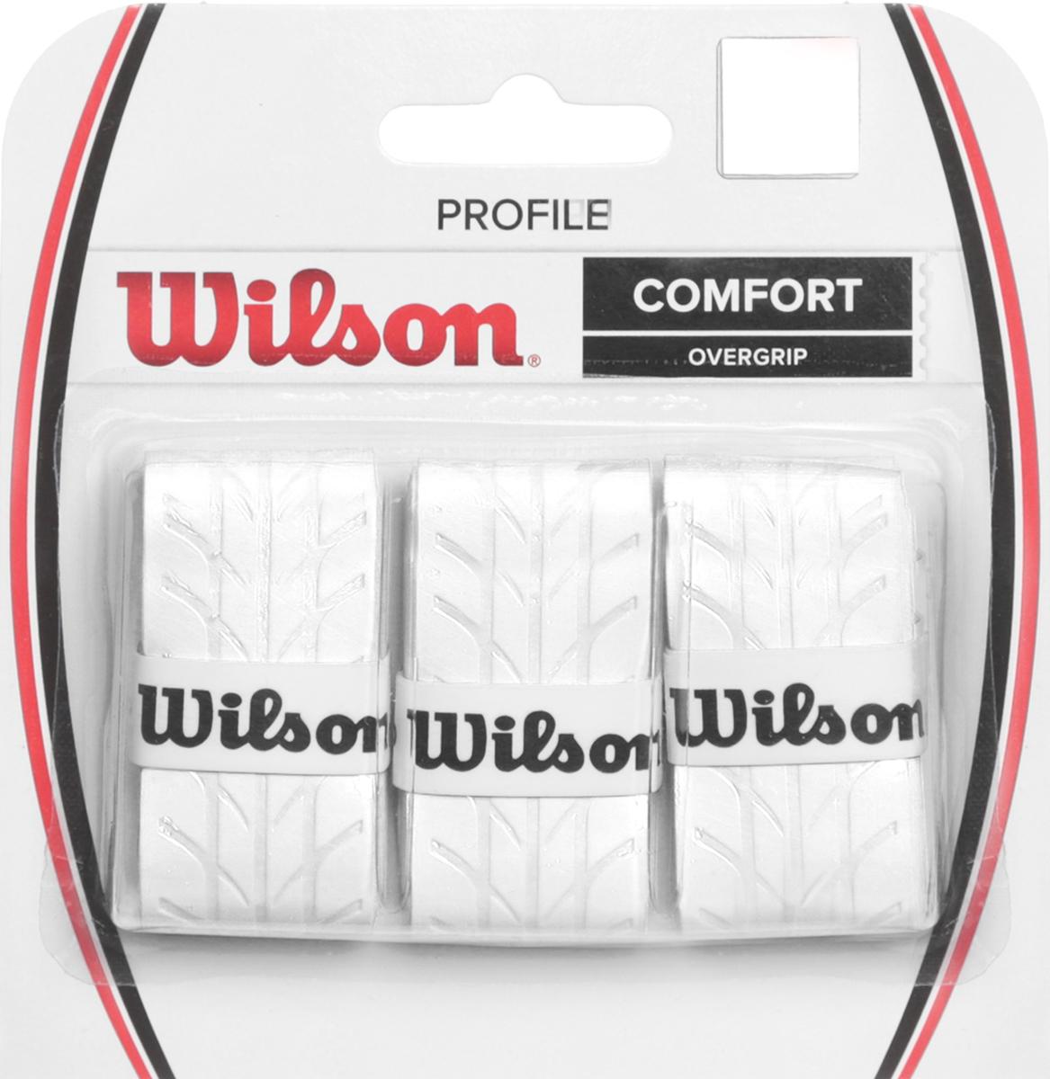 Намотка для ракетки Wilson Profile Overgrip WhWRZ4025WHОвергрип Profile - обладает уникальной насечкой, которая увеличивает чувство ракетки в руках. Идеально подходит для использования в любых тренировочных и турнирных условиях. Поставляется в белом цвете.