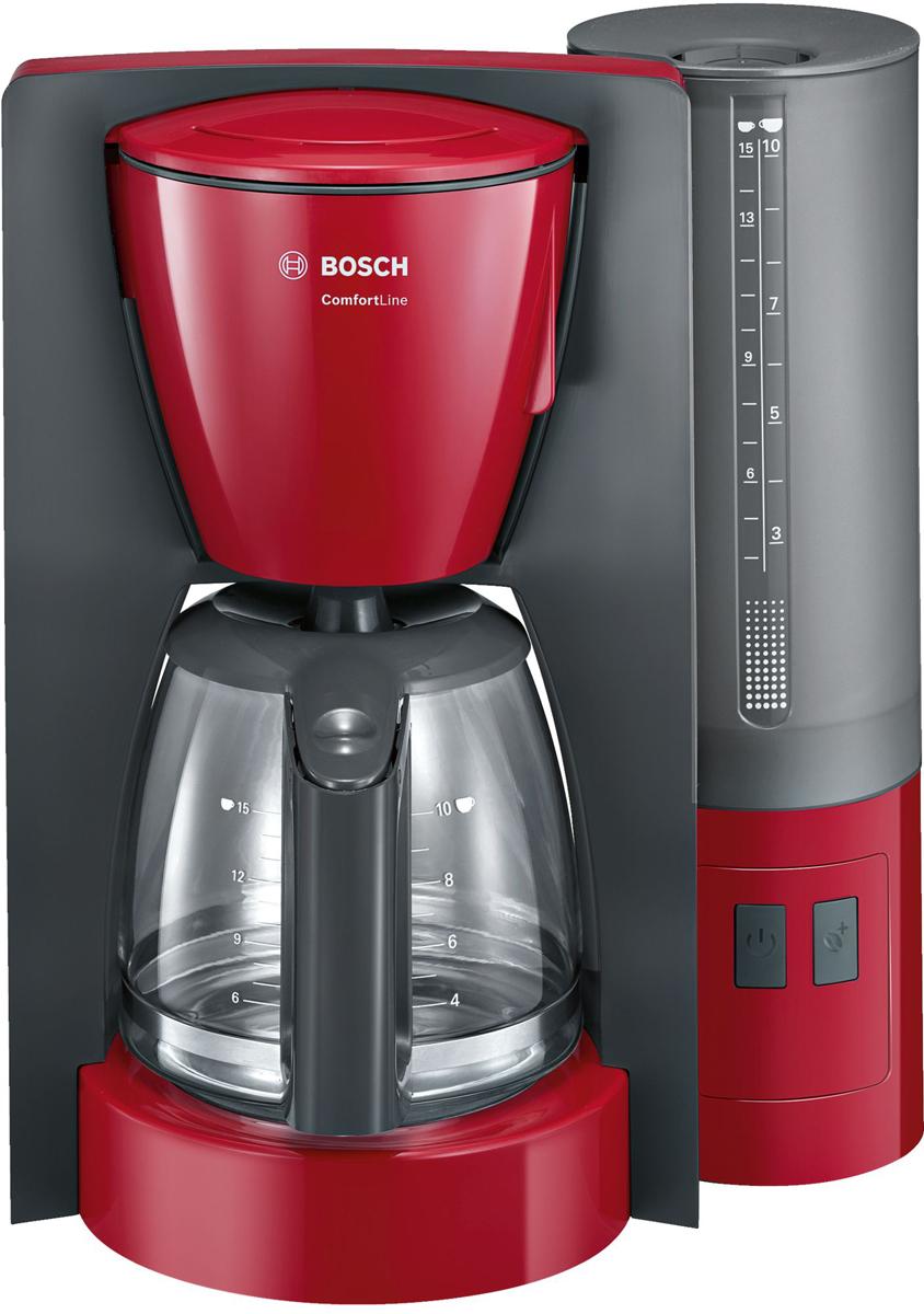 Кофеварка капельная Bosch ComfortLine TKA6A044, Red Gray
