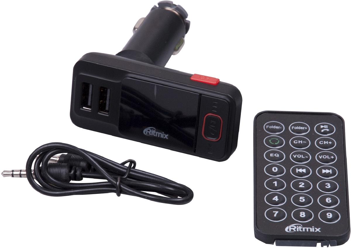 Ritmix FMT-A775, Black FM-модулятор sdy001 3w bluetooth v2 1 speaker w mini usb usb 2 0 3 5mm fm tf black light blue