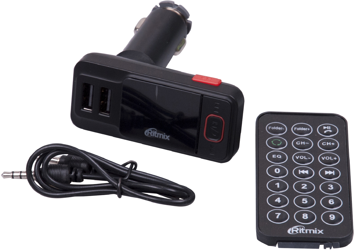 Ritmix FMT-A775, Black FM-модулятор mp3 плеер fm трансмиттер с дисплеем и пультом avs f 708а