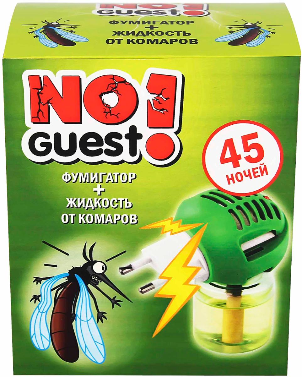 Жидкость от комаров NoGuest!, 45 ночей + электрофумигатор, 30 мл фумигатор бэби дэта универсальный для детской комнаты жидкость от комаров с индикатором включения 45 ночей 30 мл
