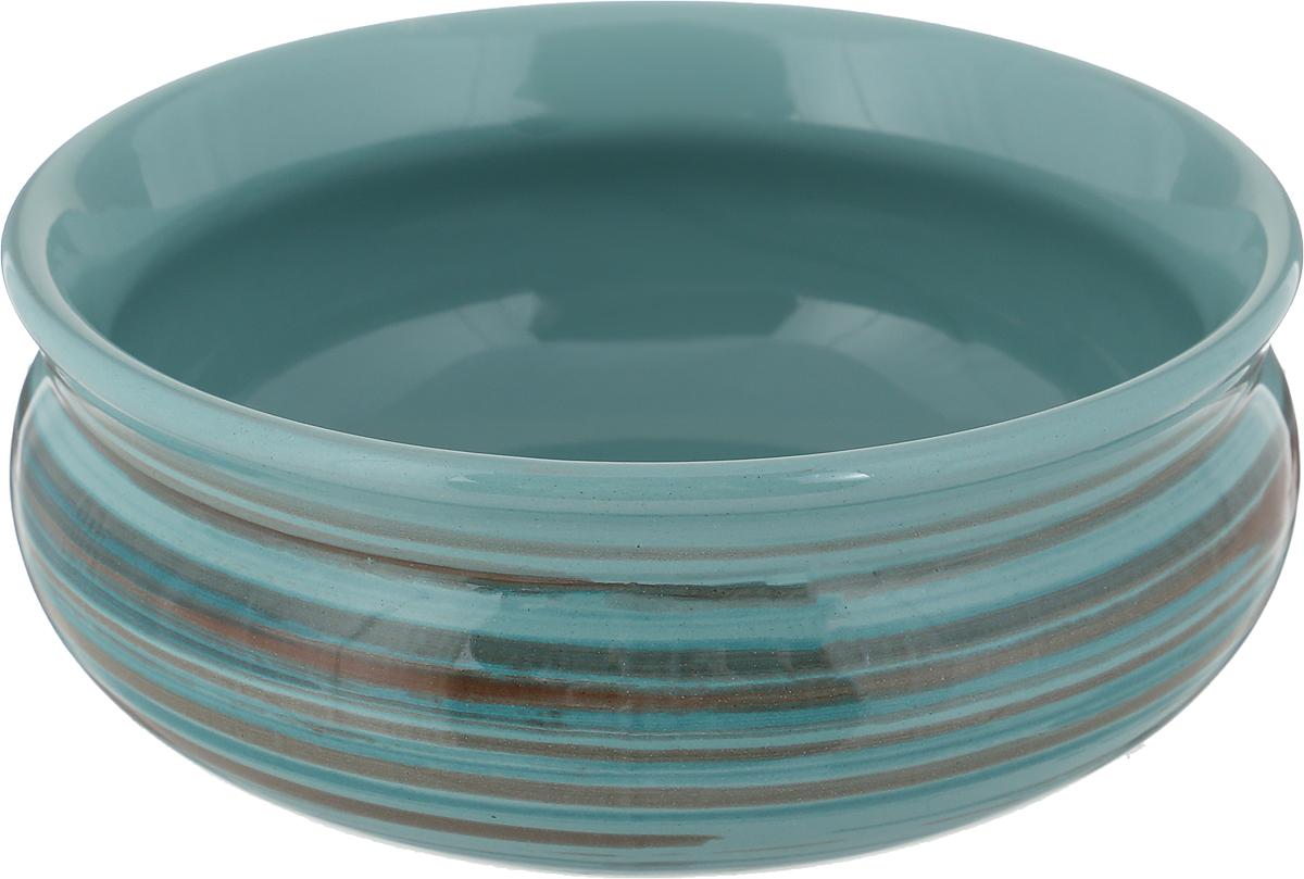 Тарелка глубокая Борисовская керамика Скифская, цвет: бирюзовый, 500 мл тарелка глубокая борисовская керамика скифская цвет оранжевый изумрудный 500 мл